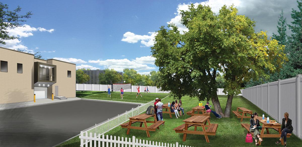 Cornerstone Day School picnic area