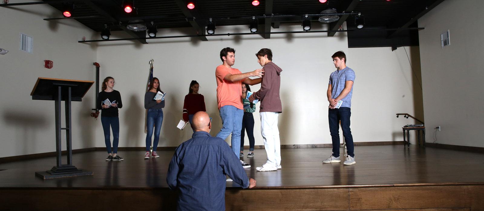 Cornerstone theater rehearsal